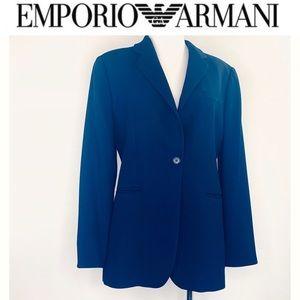 Emporio Armani Women's Vintage 100% Wool Blazer 46